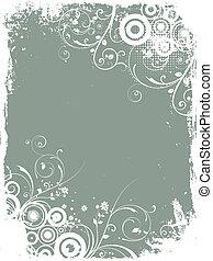 blumen-, grunge, hintergrund
