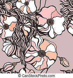 Blumen Hintergrund deaktivieren. Leichtes Muster