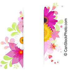 Blumen Hintergrund mit Gerbern