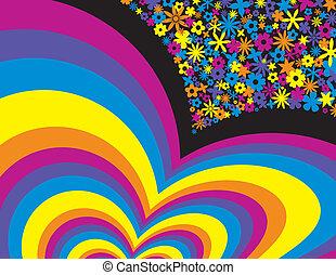 Blumen-Regenbogen-Hintergrund