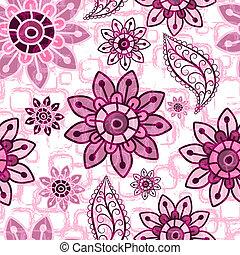 blumen-, rosa, grunge, seamless, muster