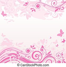 blumen-, rosa, umrandungen