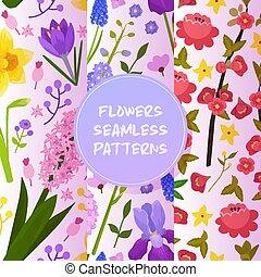 Blumen und Blumenvevektor nahtlose Muster-Wasserfarben-Grundkarten-Einladung für Hochzeit Geburtstag blühende Hydrangea iris Frühjahr Hintergrund Bild Hintergrund.