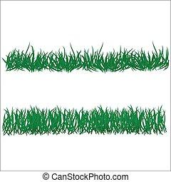 Blumen- und Grasgrenzen sind festgelegt