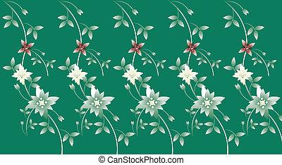 Blumen und Rebenmuster