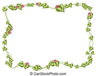 Blumen und Rebenrahmen