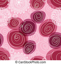 Blumen und wirbelloses Muster