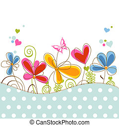 Blumenbabyparty