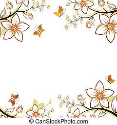 Blumenbaumrahmen