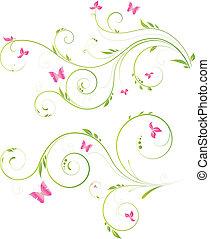 Blumendesign mit rosa Blumen