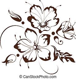Blumendesign, Vektor-Illustration