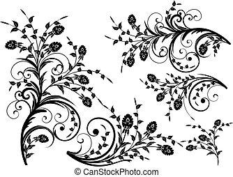 Blumenelemente für Design.
