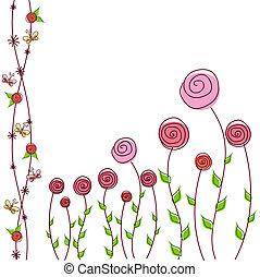 Blumenhintergrund von Rosen
