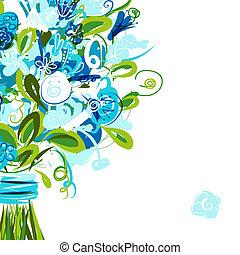 Blumenkarte mit Platz für deine SMS