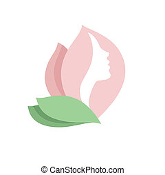 Blumenkumpelfrau - Vektor-Logo