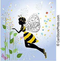 Blumenmädchen-Biene
