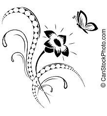 Blumenmuster, Tattoo