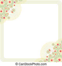 Blumenrahmen mit Kopienraum