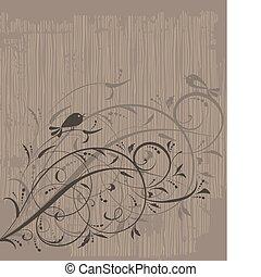 Blumenschmuck auf Grunge-Hintergrund