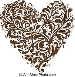 Blumenschmuck, Herzform für dein Design