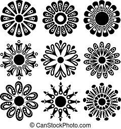 Blumenvektor-Elemente
