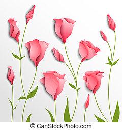 Blumenvektor-Hintergrund. Rosa Eustom