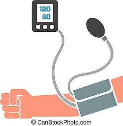 Blutdruck messen.