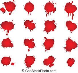 Blutflecken.
