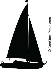 Boat1 Vektor Silhouettes