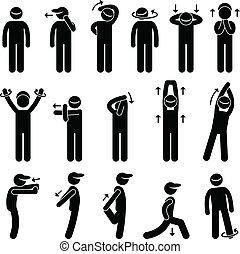 Body Stretching Training Icon.