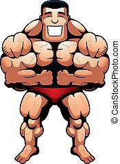 bodybuilder, biegen