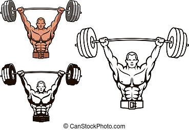 bodybuilder, hantel