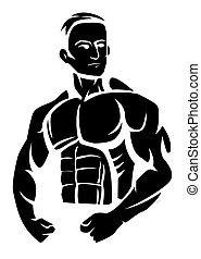 Bodybuilder.