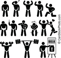Bodybuilder Muskelmann