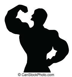 Bodybuilder Silhouette.