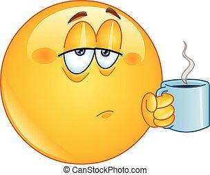 bohnenkaffee, morgen, emoticon