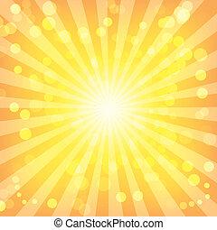 Bokeh abstrakte Lichter an Sonnenstrahlen
