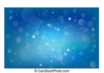 Bokeh blau verschwommene orange abstrakte Hintergrund.