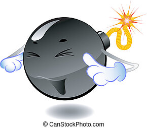 Bombe - Serie von Cartoon-Bomben