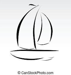 Bootsleitungen illustrieren