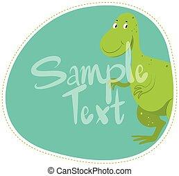 Border Design mit grünem Dinosaurier.
