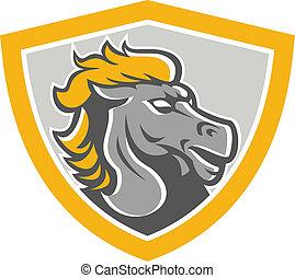 Bornco Pferdekopfschild.