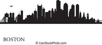 Boston City Skyline Silhouette Hintergrund