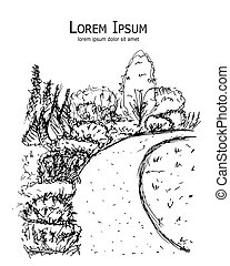 Botanischer Garten, Sketch für Ihr Design