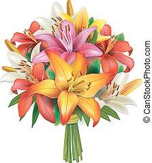 Bouquet von Lilien.