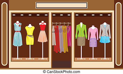 Boutique. Frauenkleidungsgeschäft