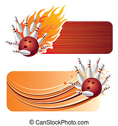 Bowling mit Flammen