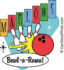 Bowlingkugeln sind Retro-Clip-Kunst