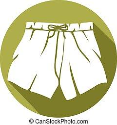 Boxershorts flaches Icon.