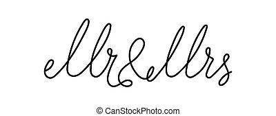 bräutigam., stil, usw., inschrift, vektor, party, einladung, frau, mr., kontinuierlich, gewebe, typographie, wedding, kalligraphie, zeichen, braut, design., kunst, verlobung , modern, abbildung, linie